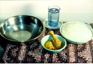 Nshima meal