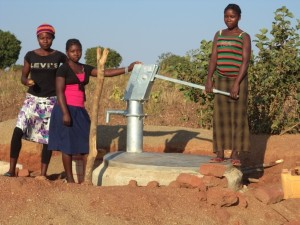 Borehole water pump installed at Kamzati Village.