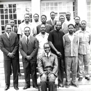 The Founding Fathers of Zambia with President Kaunda seated.