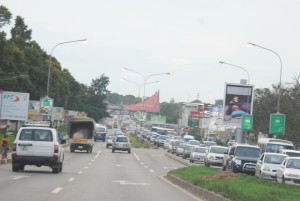 Compose a poem about car traffic in Lusaka in a Zambian language.