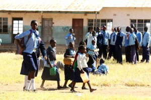 Students at  Rukuzye Primary School in the  rural Eastern Province of  Zambia where the author did Standard 2 or Grade 4 in 1963.